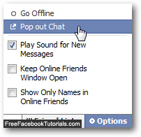 "Click ""Pop out Chat"" to open the Facebook Chat client in a new browser window"