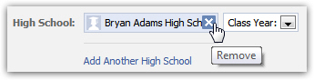 Delete or remove a high school name from your public Facebook profile