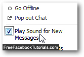 Enable and turn on Facebook Chat sounds