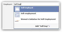 Enter your job and company information on Facebook