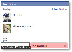 Facebook Chat client with tab for each conversation