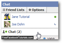 Facebook Chat icons next to your friends names