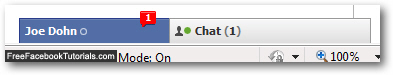 Facebook Chat sound and visual confirmation of new messages