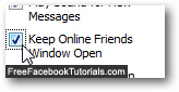Force the Facebook Chat window to stay open and visible