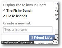Friends lists for Facebook Chat