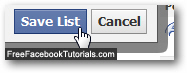 Save and add a new friend to a friends list in Facebook