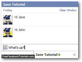 Send a Facebook Chat message to another user / member