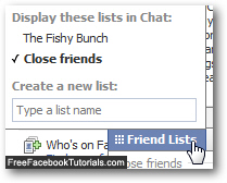 Show hidden friends lists in Facebook Chat