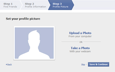 Set the profile picture for your Facebook account
